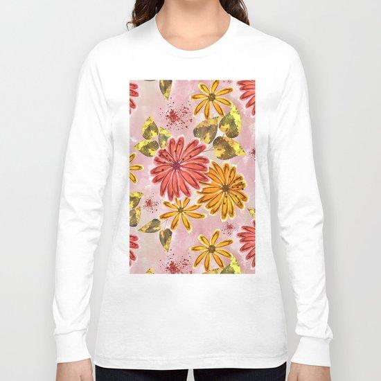 Pink, orange flowers. Long Sleeve T-shirt