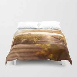 boardwalk and morass grass Duvet Cover