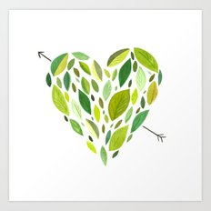 Hearts and Arrows Art Print