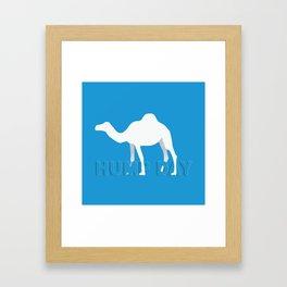 Hump day Framed Art Print