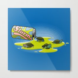 Slurm and Turtles Metal Print