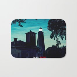 Sandy Hook Light - New Jersey Ligththouses. Bath Mat
