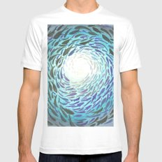 Shoal MEDIUM White Mens Fitted Tee