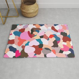petals: abstract painting Rug