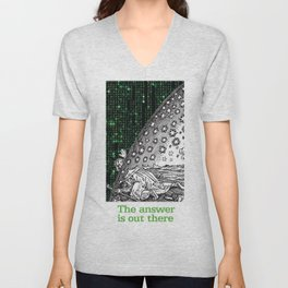 Matrix Flammarion THE ANSWER IS OUT THERE Unisex V-Neck
