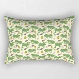 Fun Frogs with Leaves from Trees Rectangular Pillow