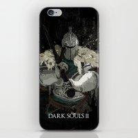 dark souls iPhone & iPod Skins featuring Dark Souls 2 Knight Splatter by 666HUGHES