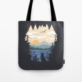 Mountain Lion Wilderness Tote Bag