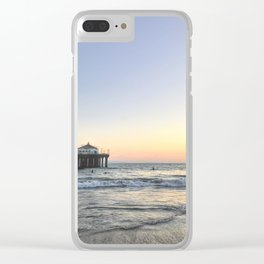 Sunset Pier Clear iPhone Case