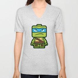 Chibi Leonardo Ninja Turtle Unisex V-Neck