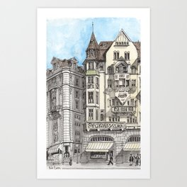 Downtown Basel, Switzerland Art Print