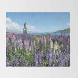 Colorful lupine towers Throw Blanket