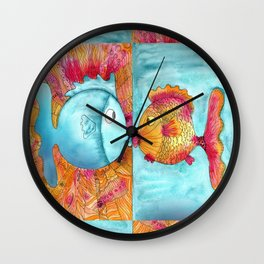 Fish Kiss Wall Clock