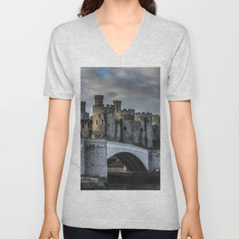 Conwy Castle, North Wales Unisex V-Neck