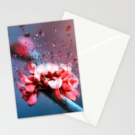 Absctract Flower Blossom Crystal Stationery Cards