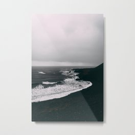 Black Beaches Metal Print