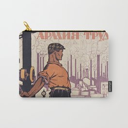 URSS - 1921 Soviet Union - Militia Army Work - Man with Rifle - Communist poster Carry-All Pouch