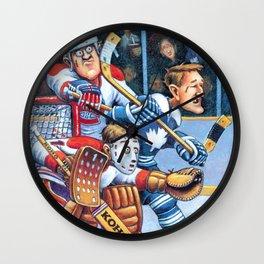Olde Time Hockey Wall Clock