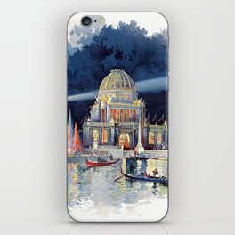 White City at Night, Chicago World's Fair of 1893 iPhone Skin