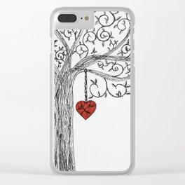 Love yourself first Clear iPhone Case