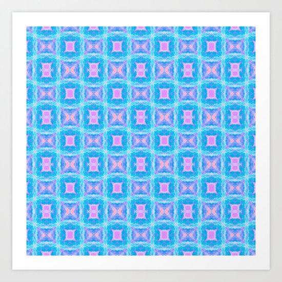 Razzle Dazzleberry Blue Art Print