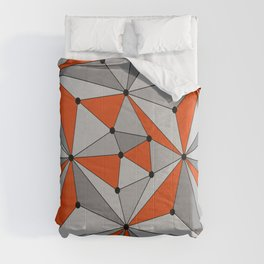 Abstract geometric pattern - orange and gray. Comforters