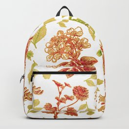 Lovely Floral Pattern Backpack