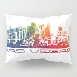 Las Vegas skyline color Pillow Sham