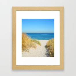 Sand cost II. Framed Art Print