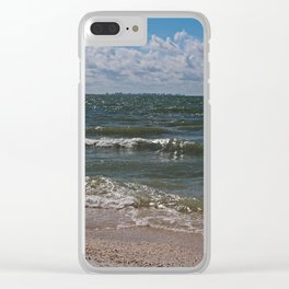 Sandcastle Kisses Clear iPhone Case
