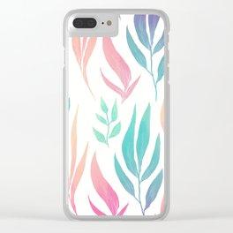 Pattern flower Clear iPhone Case