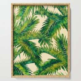 Palms #palm #palms #flower Serving Tray
