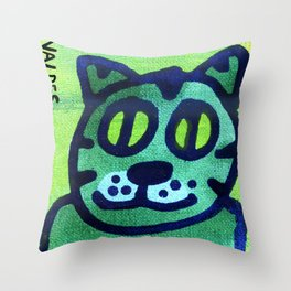 Hey Kitty Kitty Throw Pillow