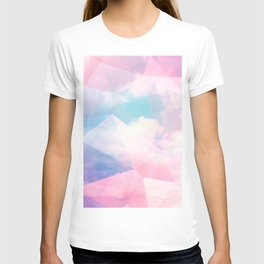 Cotton Candy Geometric Sky #homedecor #magical #lifestyle T-shirt