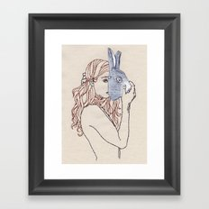 Put The Mask Upon The Face Just To Make The Next Day Framed Art Print