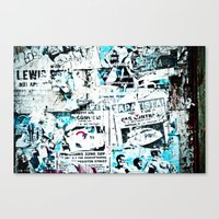 posters Canvas Prints featuring posters by Renee Ansell