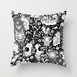 Grandson Of Doome Throw Pillow