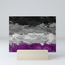 Asexual Paint Splatter Flag Mini Art Print