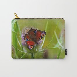 Peacock Butterfly on a Teasel Flower 4 Carry-All Pouch