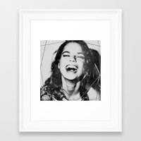 "Framed Art Prints featuring LaUghinG gIrL by ""CVogiatzi."