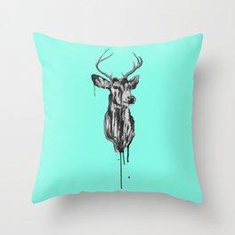 Deer Head III Throw Pillow