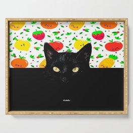 Big Black Cat Serving Tray