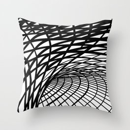 King's Cross London, a Magnificent Ceiling Illustrated Art Print Throw Pillow