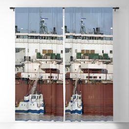 Edgar B Speer Freighter and Ojibway Blackout Curtain