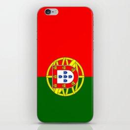 flag of portugal -Portuguese,mirandese,Portugués,lisbon,porto. iPhone Skin