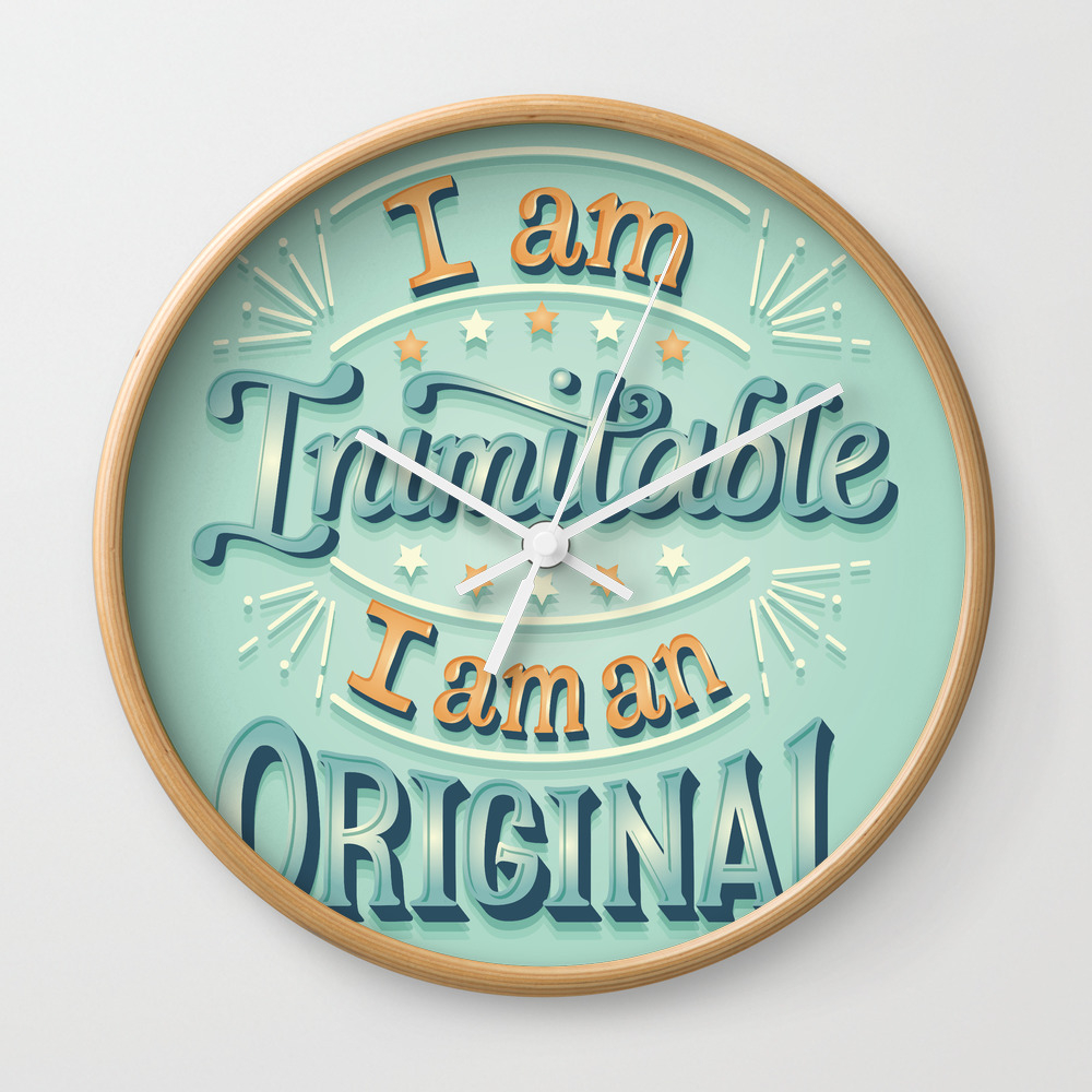 I Am An Original Wall Clock by Risarodil CLK8096752