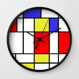 Mondrian #58 Wall Clock
