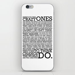 Here's To The Crazy Ones - Steve Jobs iPhone Skin