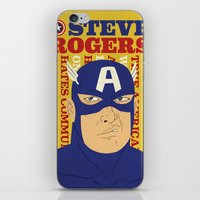 steve rogers iPhone & iPod Skins featuring Steve Rogers/Captain America by Joseph Rey Velasquez