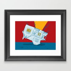 UPSIDEHOUSE Framed Art Print